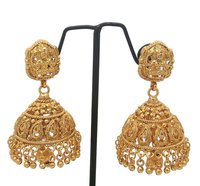 Simple Design gold plated forming jhumka