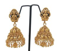 simple gold plated jhumka earring