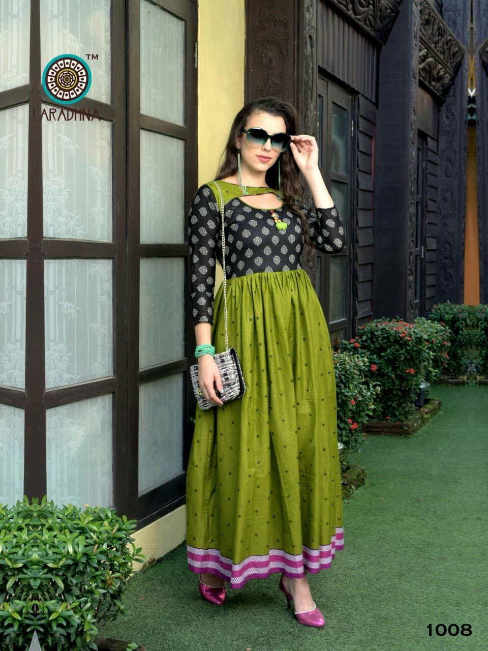 Delight Aradhna Cotton Rayon Flair Kurti Collection