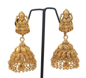 New Design Gold plated Jhumka Earring