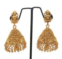 Latest simple design gold plating jhumka