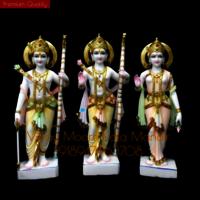 Makrana Marble Ram Darbar Statues
