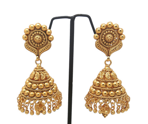 New Gold plated Forming jhumka