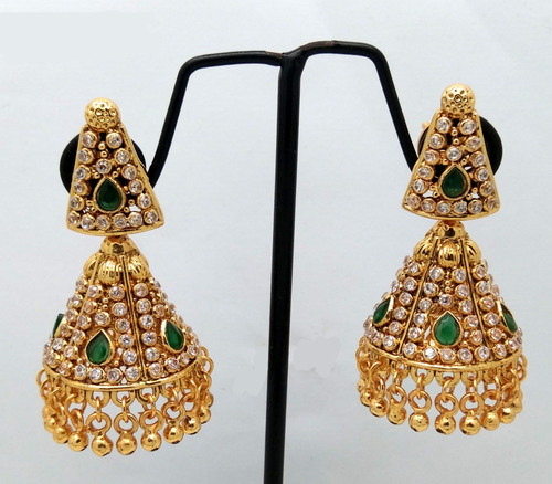 Fancy Design gold plating jhumka Earring