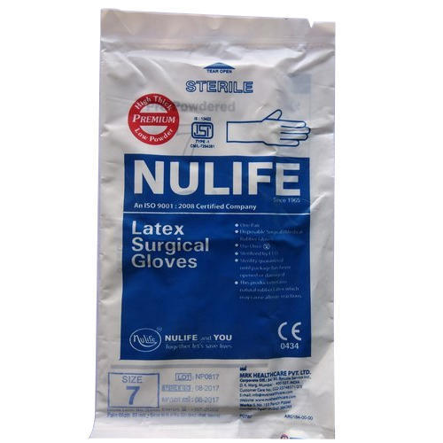 Nulife size 7 Sterile Gloves
