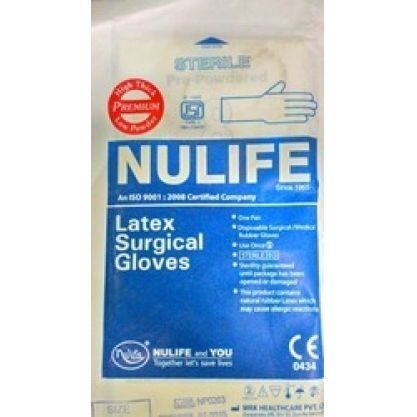 Nulife size 7.5 Sterile GLoves