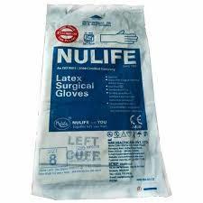 Nulife size 8 Sterile Gloves
