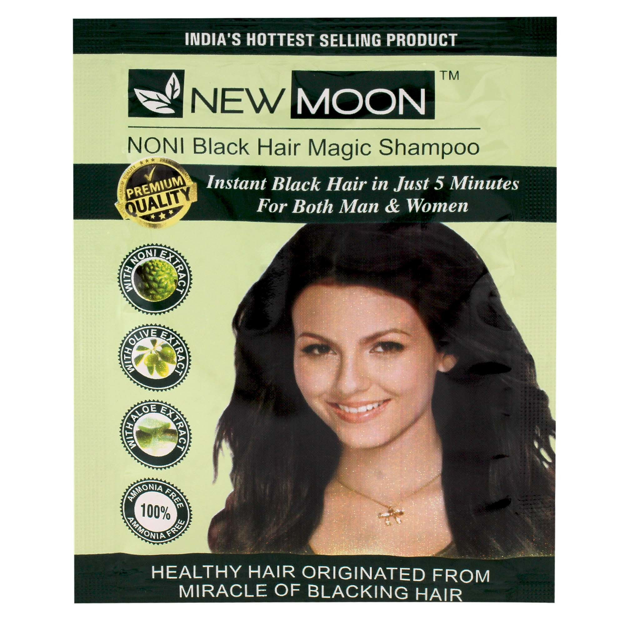 New Moon Noni Instant Fast Black Hair Shampoo