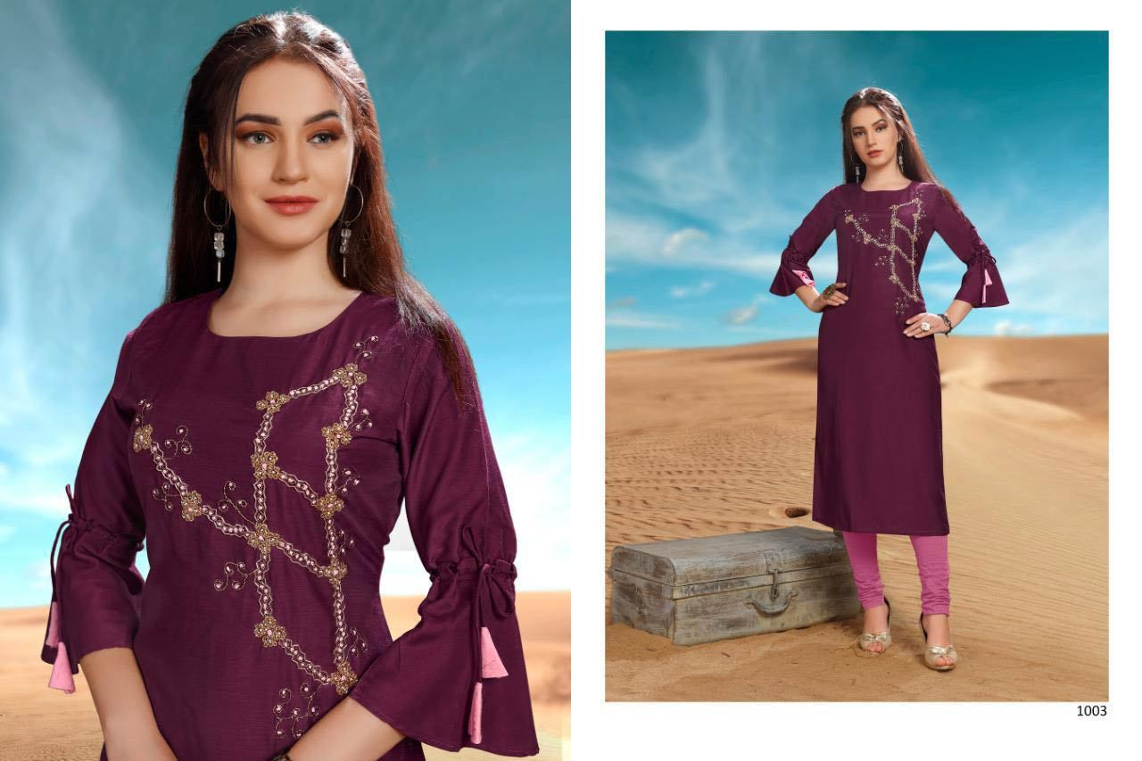 Desert Point Viscose Kurti Catalog