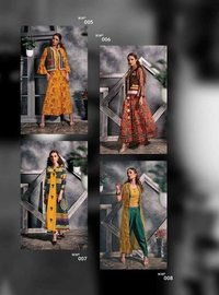Desire Vol-1IKW Jacket Style Printed Long Kurtis