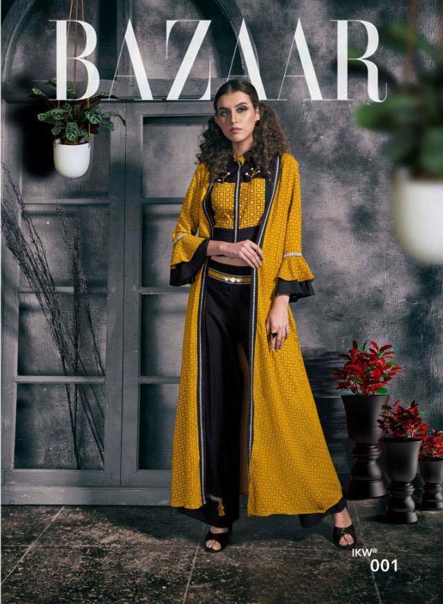 Desire Vol-1IKW Jacket Style Printed Long Kurtis