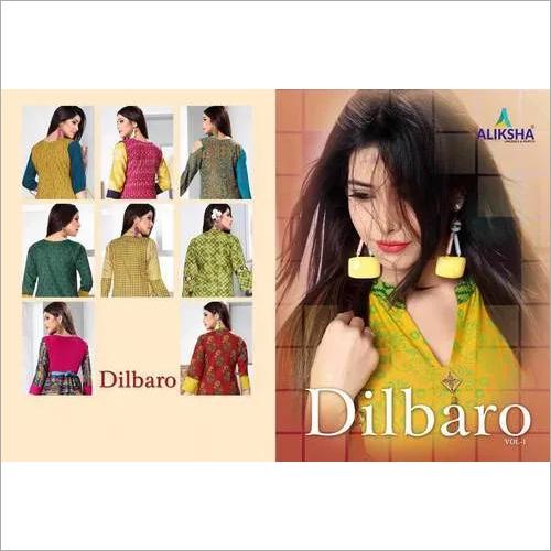 Dilbaro Vol-1 Aliksha Rayon Peek Anarkali Pattern Kurtis