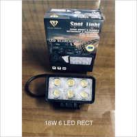 18W 6 LED Rect