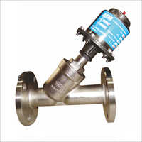 Pneumatic Angle Seat Valves Single Piece Y Type