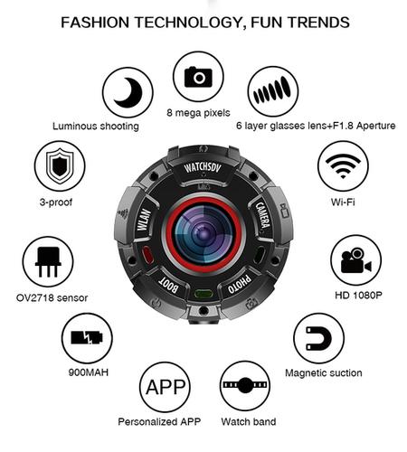 A Wearable Magnetic Waterproof Drop-Resistant Dust-Proof Sports Camera SKU G600
