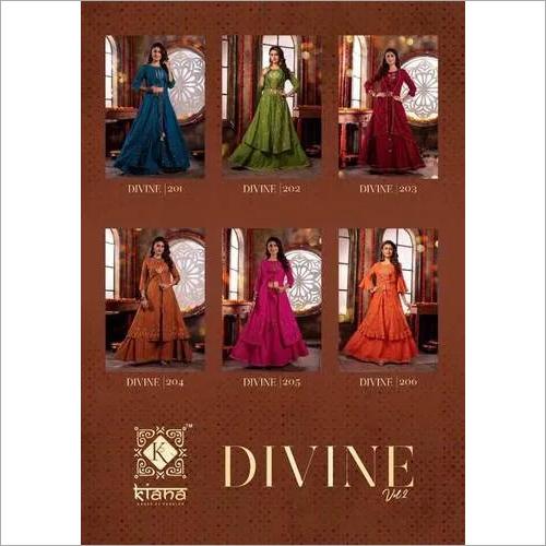 Divine Vol-2 Kiana Mal Lurex 3 Piece Kurti Catalog