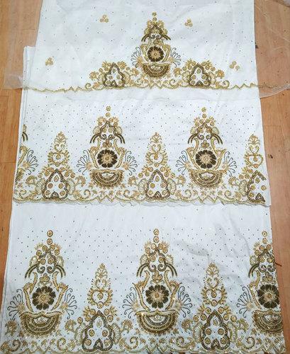 Beautiful Nigerian Beaded George wrapper Taffeta Silk Indian Dress Material