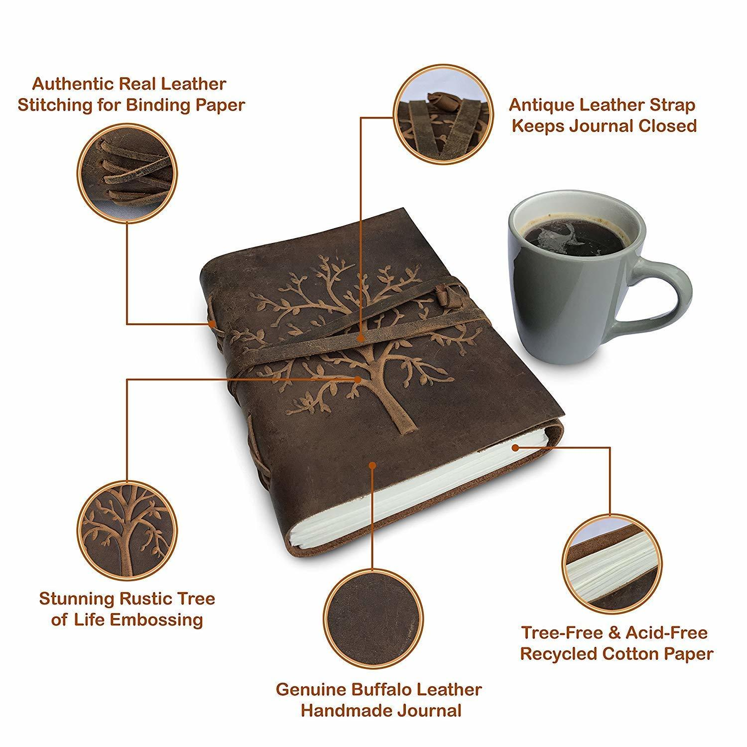 Buffalo Leather Tree of Life Journal