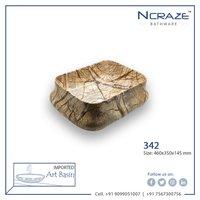 Almond Brown Ceramic Wash Basin