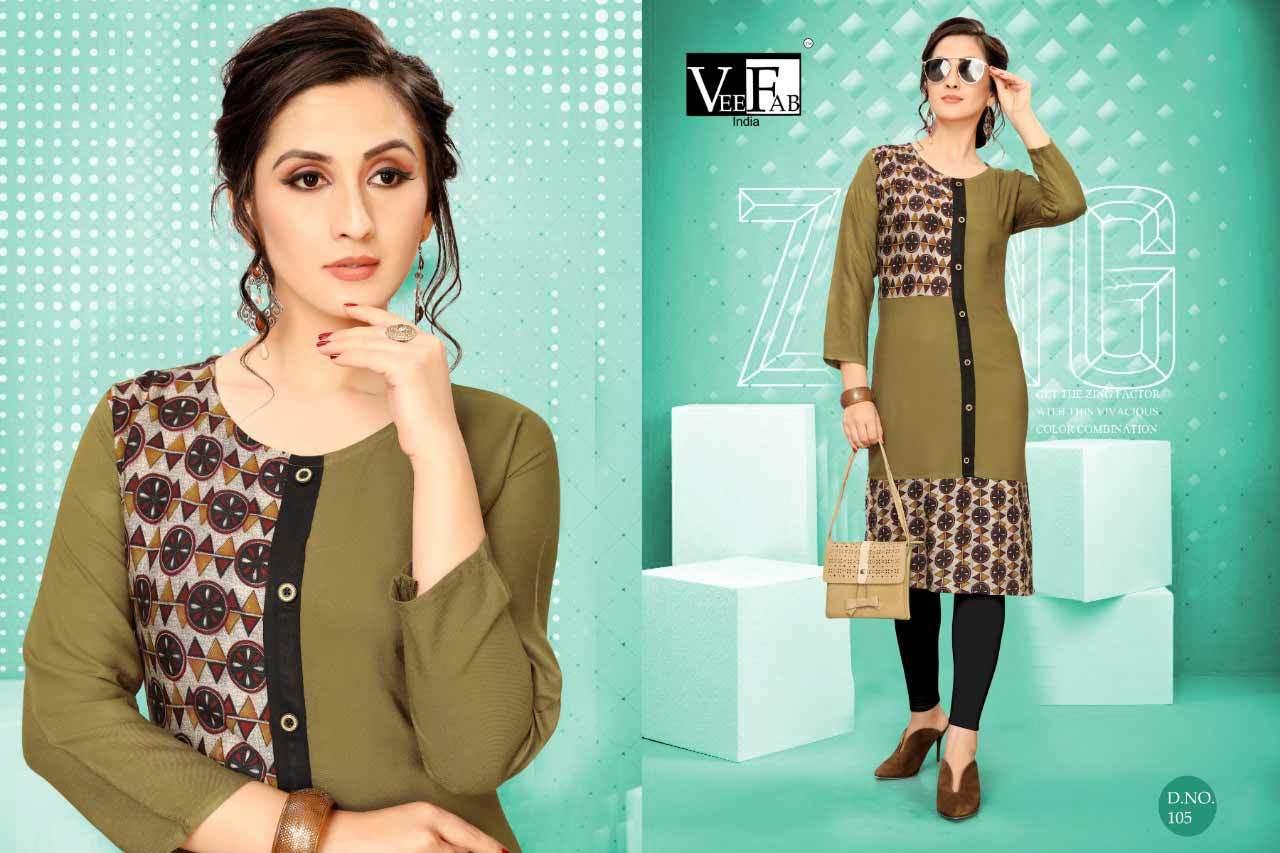 Dream Girl Vol-2 Veefab India Rayon Print Kurti