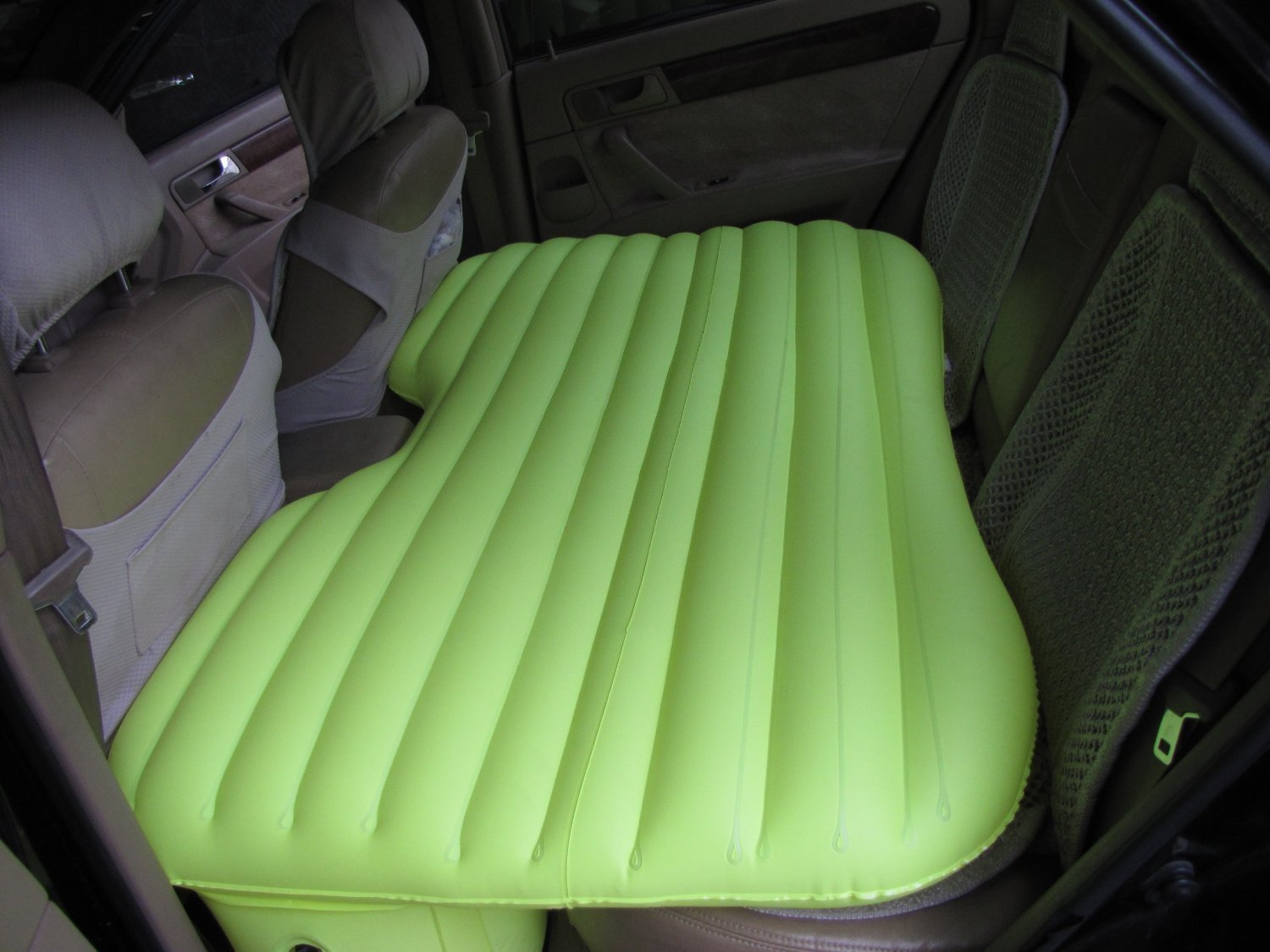 Car Inflatable Bed With Electric Pump Pillow And Puncture Kit (Green)