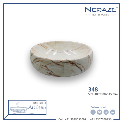 Cream color Art Wash Basin