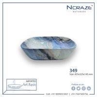 Blue Shaded Wash Basin