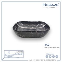 Black Marble Ceramic Wash Basin