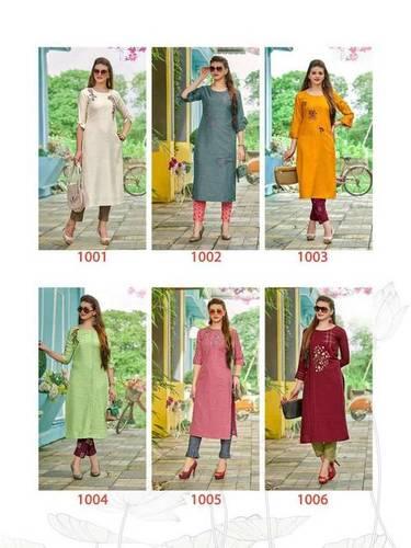 Dzire Ladies Flavour Silk Rayon Kurti Manufacturer