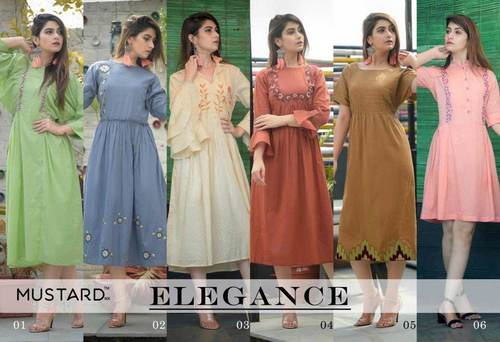 Elegance Manjaree Cotton Embroidery Kurti Catalog