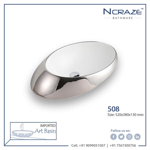 Silver Art Wash Basin