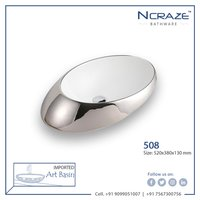 Silver Art Wash Basin