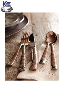 Stainless Steel Cutlery with Copper Finish