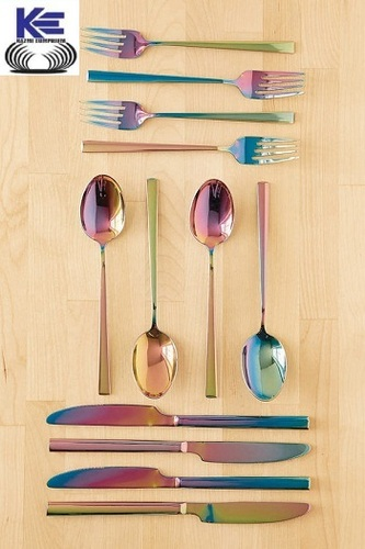 Stainless Steel Cutlery with Rainbow Finish