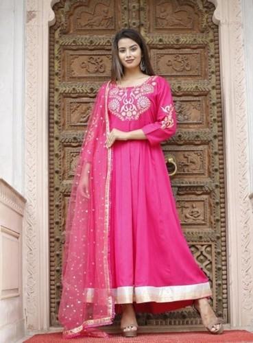 Buy Designer Anarkali Kurtis with Dupatta - 2020 Rakhi Cloths for Girls and Women