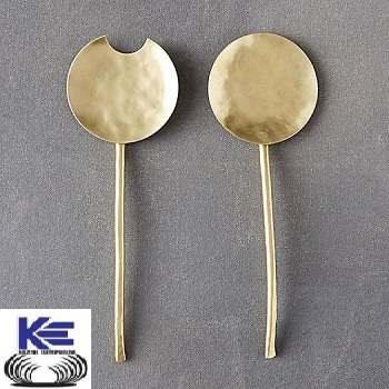Brass Salad Server Set