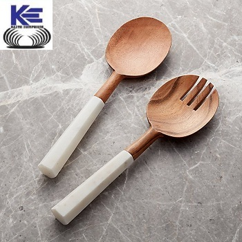 Marble Handle Salad Server Set