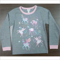 Printed Girls Long Sleeve T-shirt