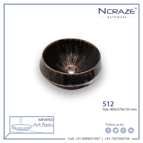 Gold Shaded Black Color Wash Basin