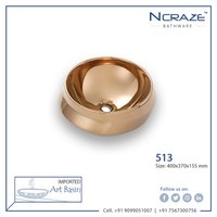 Rose Gold Art Wash Basin