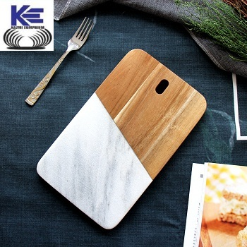 Wood and Marble Chopping Board