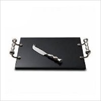 Marble Chopping Board with Knife