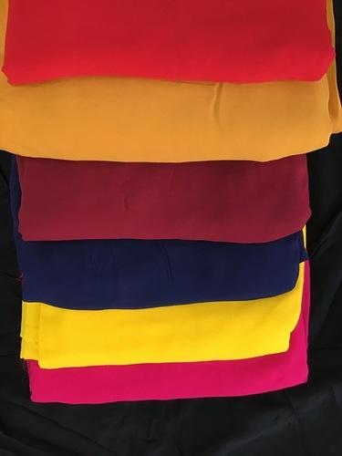 Georgette Plain Dark Fabric