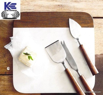 Wooden Handle Cheese Set Knives