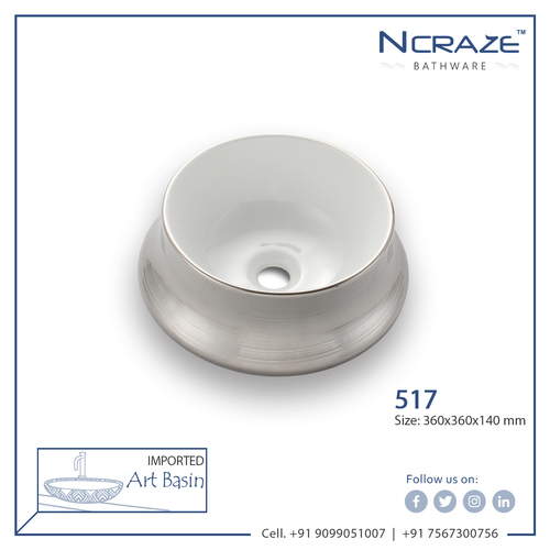 Silver Imported Wash Basin