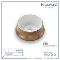 Matt Gold Designer Wash Basin