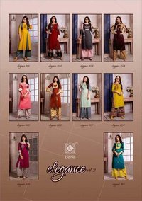 Elegance Vol-2 Kiana Rayon Embroidery Indian Kurti