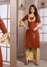 Elegance Vol-2 Kiana Rayon Embroidery Indian Kurti