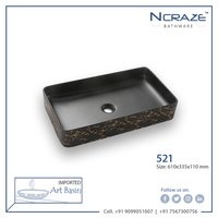 Rounded Rectangle Wash Basin