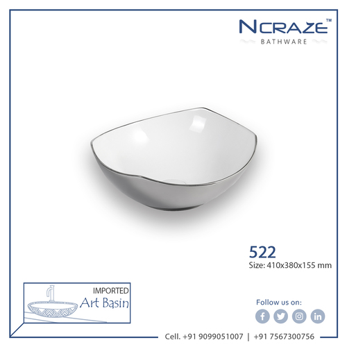 Silver Color Ceramic Wash Basin
